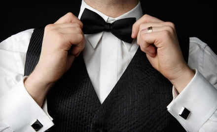 Tuxedo Rental or Purchase at Valente's Men's Formalwear (Up to 54% Off)