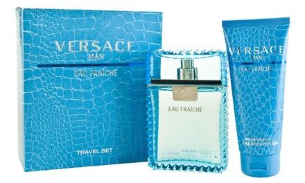 Versace Eau Fraîche Eau de Toilette Set for Men with Shower Gel