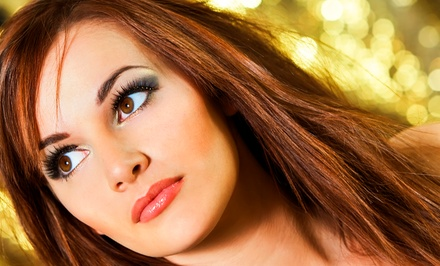 Full Set of Silk Eyelash Extensions with Option for Touchup at The Lash Shop (Up to 63% Off)