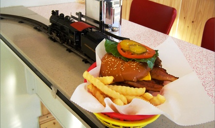 $10 for $15 Worth of Grass-Fed Beef Burgers Served by Train at Veteran-Owned 2Toots Train Whistle Grill