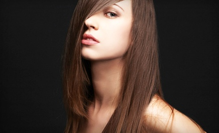 Keratin Express Treatment or Cut, Style, and Partial or Full Highlights at Intrique (Up to 69% Off)