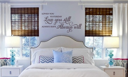 $20 for $50 Worth of Custom Vinyl Wall Decals from Lacy Bella Designs