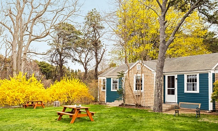 groupon daily deal - 2-Night Stay for Two at Cove Bluffs Inn in Eastham, MA. Check in Sunday–Thursday. Combine Multiple Nights.
