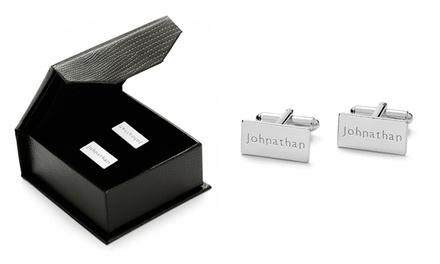 Um par de botões de punho retangulares com gravação por 22,99€ ou dois pares por 39,99€