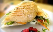 Organic Breakfast or Lunch Fare at River Cafe (Up to 52% Off). Two Options Available.