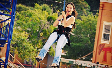 One-Time Access to Zipline, Rock Wall, and Ropes Course for One, Two, or Four at Old Town (Up to 53% Off)