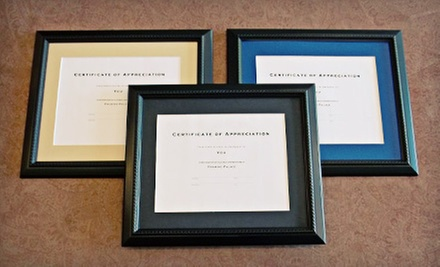 Diploma-Framing Package or $40 for $110 Worth of Framing Services at Framing Palace