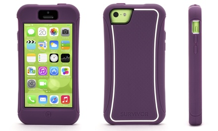 Griffin Survivor Slim Protective Case with Screen-Care Kit for Apple iPhone 5c