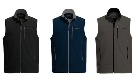 Hawke & Co Men's Wind-Resistant Softshell Fleece Vest