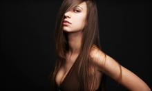 Haircut Package with Shine Shot and Option for Half Head of Highlights at The Beauty Studio in Temecula (Up to 67% Off)