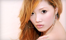 Haircut Package and Option for Partial Highlights or Single-Process Color at The Hair Lounge by Souky (Up to 78% Off)