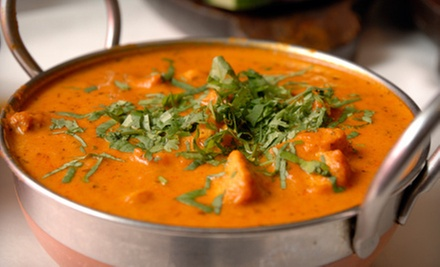 Indian Food at Taj Palace Indian Restaurant (Up to 52% Off). Two Options Available.