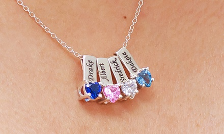 Mother's Necklace with One, Two, Three, Four, or Five Birthstone Charms from Monogramhub.com (Up to 83% Off)