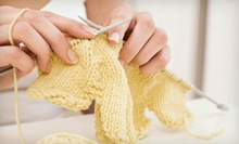 One or Three One-Hour Knitting or Crocheting Classes at The frayed knot (Up to 71% Off)