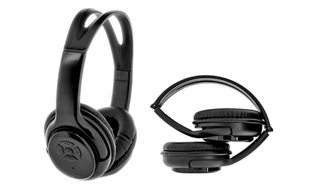 Bytech Over-Ear Bluetooth Headphones with Built-In Mic and Remote