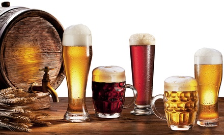 Beer Samplers and Appetizers for Two or Four at Kegs, Corks & Forks (Up to 46% Off)