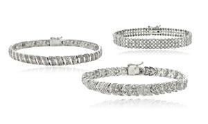 1.00 Cttw Diamond Tennis Bracelets. Multiple Options Available.
