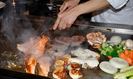 Japanese Food for Dinner at Sakura Sushi and Hibachi Restaurant (Up to 50% Off). Two Options Available.