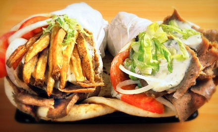 Five Gyro Meals or $10 for $20 Worth of Greek Food at Gyros &amp; Goodies