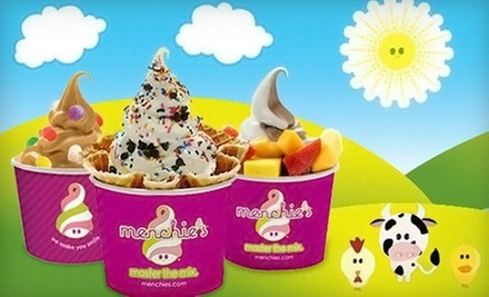 Frozen Yogurt at Menchie's Frozen Yogurt (Half Off). Two Options Available.