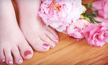 One or Two Spa Mani-Pedis at Feathers Beauty Lounge (Up to 54% Off)