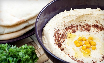 Mediterranean Dinner for Two or Four or $20 for $40 Worth of Takeout at Hummus Elite