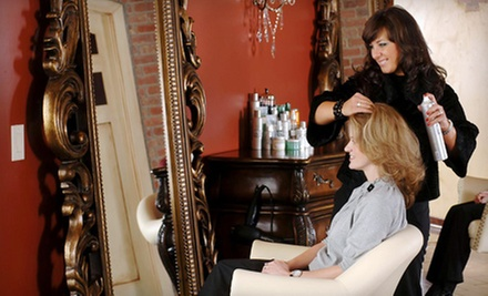 Haircut with Partial Highlights, Conditioning Treatment, or All-Over Color at salon de vallon (Up to 59% Off)