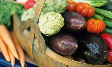 $10 for $22 Toward One Standard Box of Local, Organic, Seasonal Produce for Pick-Up from Good News Farm
