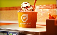 $9 for Three Visits for Frozen Yogurt at Orange Leaf ($18 Value)