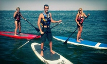 $39 for a 2-Hour Standup-Paddleboarding Lesson and Ocean Dolphin Tour from Rudee Inlet Stand Up Paddle ($80 Value)