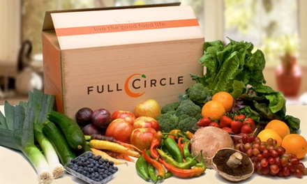 One Large, Medium, Small, or Mini Box of Organic Produce from Full Circle (Half Off)