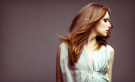 Haircut with Optional Single-Process Color, Partial Highlights, or Full Highlights at Arbor Park Salon (Up to 67% Off)