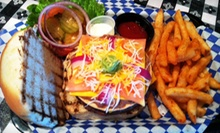 Western-Style Burgers at Old West Burgers (Half Off). Two Options Available.