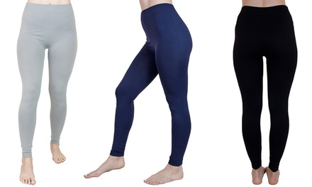 3-Pack of Agiato Women's Basic Leggings