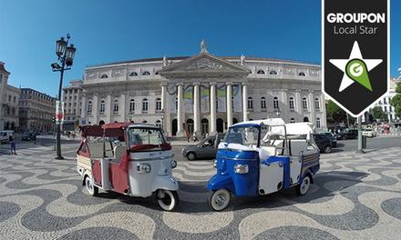 Tuk Tuk Tejo — Lisboa: passeio de Tuk Tuk para até 3 pessoas com degustação de vinho desde 26,90€