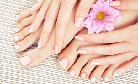 Mani-Pedi with Optional Circulation Treatment or Paraffin Dip at Divine Creations Boutique & Spa (Up to 59% Off)