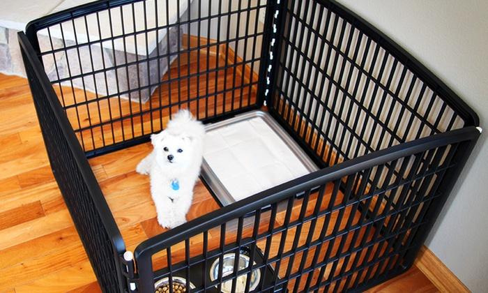 Indoor Outdoor 4 or 8 Panel Pet Playpen