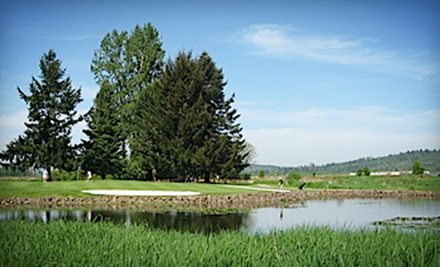 18-Hole Round of Golf for One, Two, or Four with Cart Rental and Range Balls at Riverside Golf (Up to 55% Off)