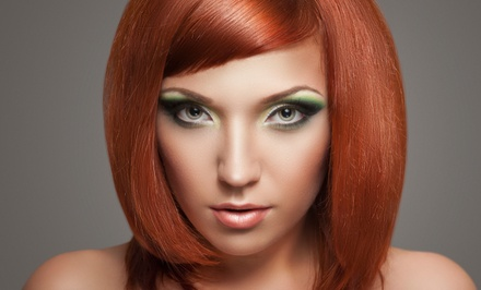 Haircut and Blow Dry with Color or Highlights at Larisa Beauty Salon & Spa (Up to 61% Off)