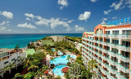 groupon daily deal - 4- or 7-Night All-Inclusive Stay for Two at Sonesta Maho Beach Resort & Casino in St. Maarten. Includes Taxes and Fees.