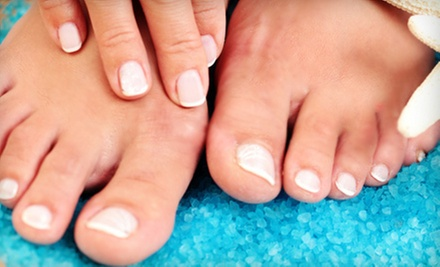 One or Three Mani-Pedis with Scrubs from Tamarah Talley-Kincaid at Angelique Salon and Day Spa Suites (Up to 62% Off)
