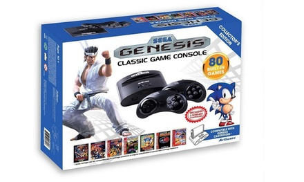 Sega Genesis Classic Console with 80 Built-In Games