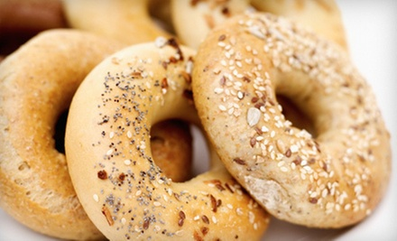 13 Bagels with Cream Cheese and Coffee or $10 for $25 Worth of Bagels and Sandwiches at Bagelicious Cafe &amp; Gourmet Deli