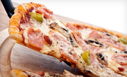 Pizza at Flakey's Pizza (Up to 53% Off). Two Options Available.