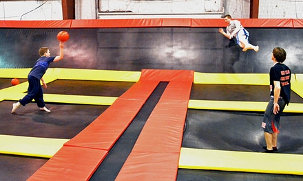 One Hour of Trampoline Play for Two or Four at Stratosphere Trampoline Park (Up to 50% Off). Four Options.