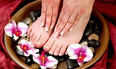 $36 for a Shellac Manicure and Basic Pedicure from Joanne at Studio 411 Salonspa ($85 Value)