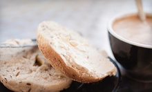 $10 for Two Groupons, Each Good for $10 Worth of Bagels and Coffee at Bentley's Bagels & Brew ($20 Total Value)