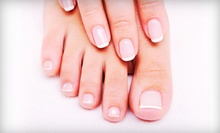One Basic Pedicure, or One or Two Basic Mani-Pedis at Hair Play Salon & Spa (Up to 63% Off)