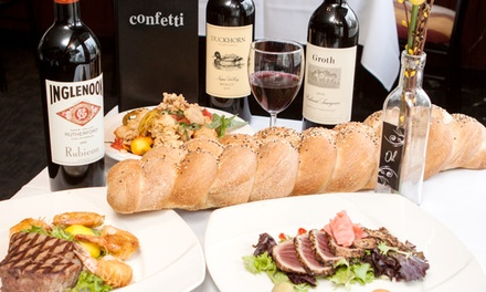 Mediterranean Dinner for Two at Confetti (Up to 50% Off). Two Options Available.
