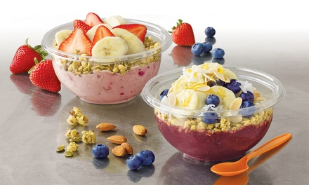 $9.99 for Three Groupons, Each Good for One 16-Oz. Energy Bowl at Jamba Juice (Up to $19.47 Total Value)